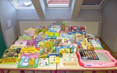 Zahvala za zbiranje rabljenih iger, igrač in knjig