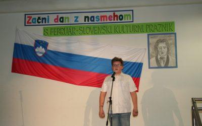 V počastitev slovenskega kulturnega praznika