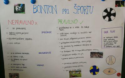 Bonton na naši šoli