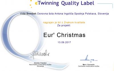 Mednarodna projekta: Eur' Christmas ter Advent Calenda