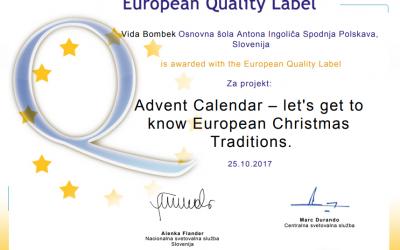 Mednarodna projekta Eur' Christmas in Advent Calendar