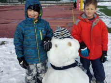 Zimski športni dan 1. triade - Igre na sneguv
